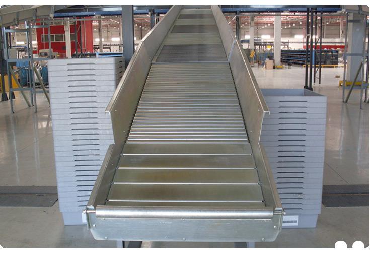 Metal rulolu konveyör
